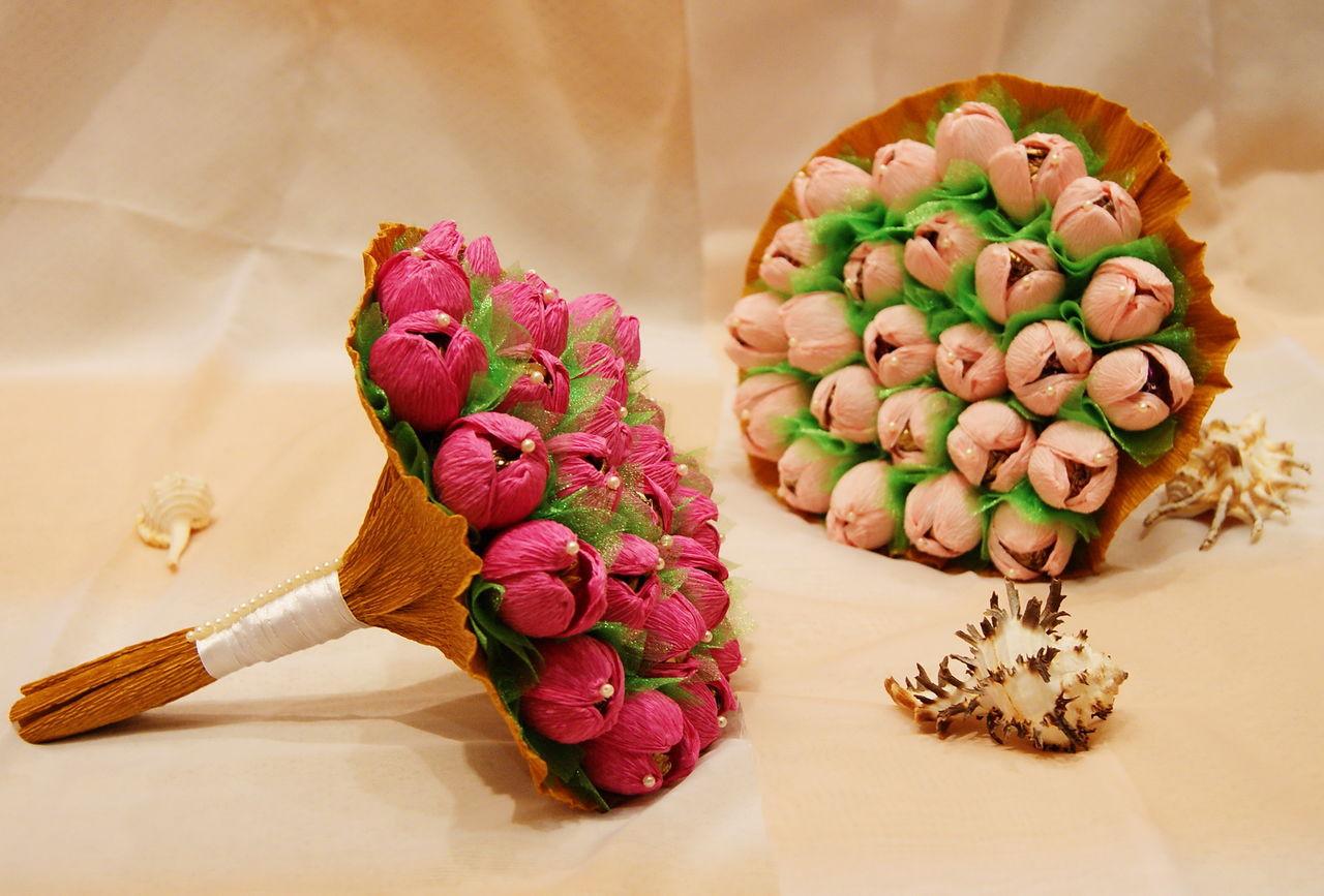Букеты из конфет мастер класс пошаговое фото