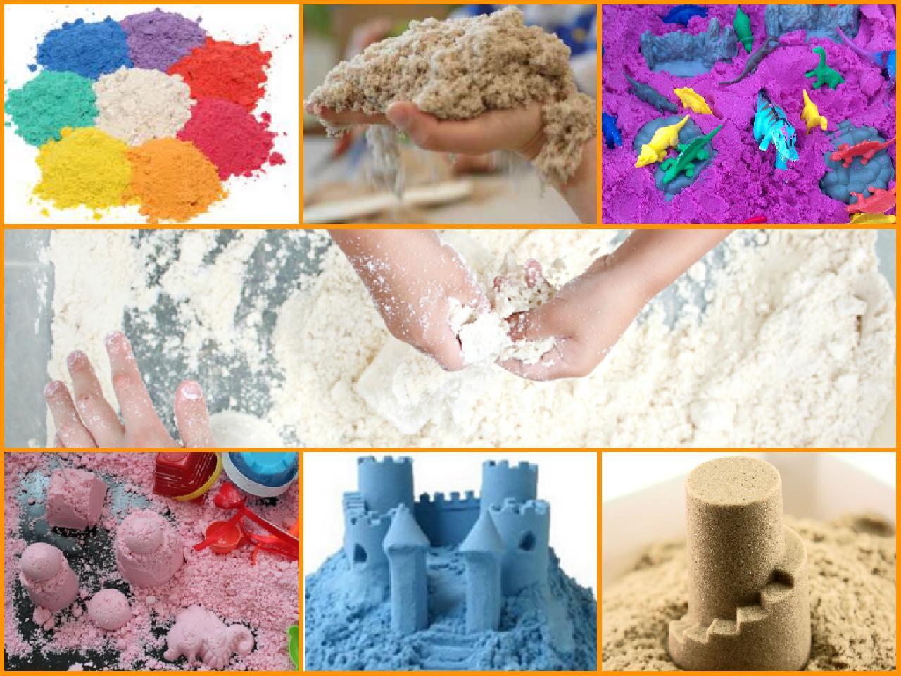 Мастер класс по изготовлению кинетического песка